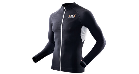 X-Bionic Biking The Trick LS Full Zip Shirt Men black/white